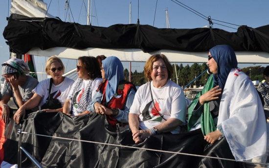 Op de vredesboot naar Gaza