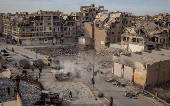 Foto vernieling Raqqa