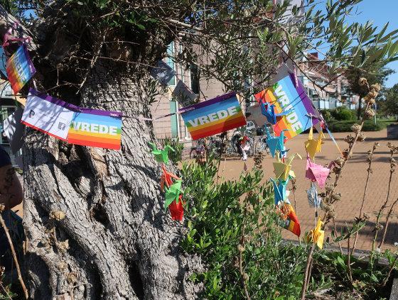 Vredesboom tijdens Vredesweek