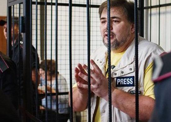 Ruslan Kotsaba bij proces