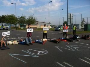 Foto van de blokkade