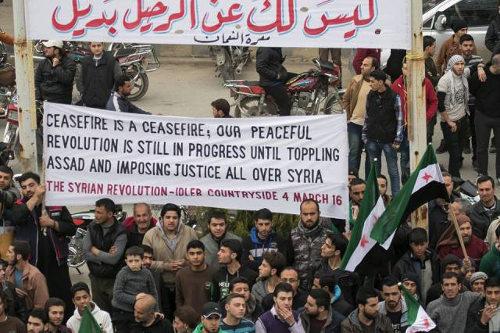 4 maart 2016 demonstratie Syrië